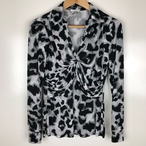 Cache animal print top. Size small